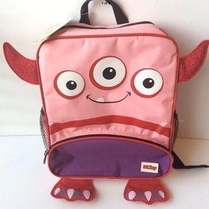New Nubby Red Monster Kids Backpack